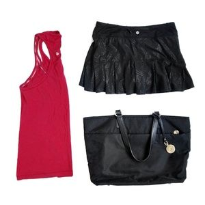 Lululemon Black on Black Skirt Skort Shorts Size 6